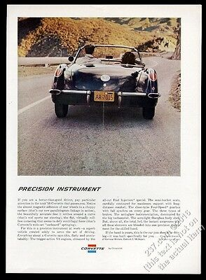 1959 Corvette convertible car color photo Chevy Chevrolet vintage print ad