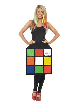 Rubik's Cube Licenced 3D Fun Game 1980's Halloween Fancy Dress Costume