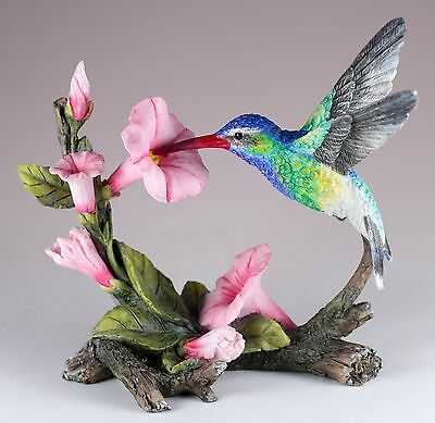 "Green Violet Eared Hummingbird Bird Figurine 5.5"" Long New In Box!"