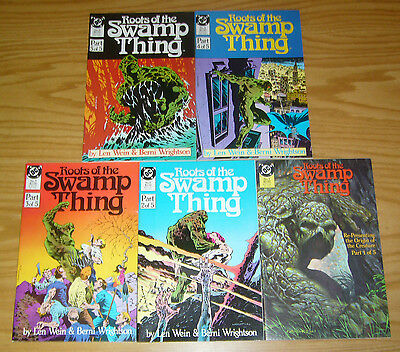 Roots of the Swamp Thing #1-5 VF/NM complete series BERNIE WRIGHTSON alan moore