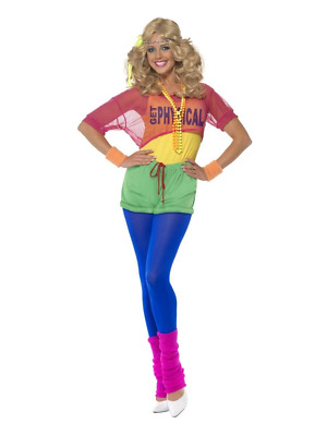 Let's Get Physical Girl 1980's Workout Sports Aerobics Fancy Dress Costume