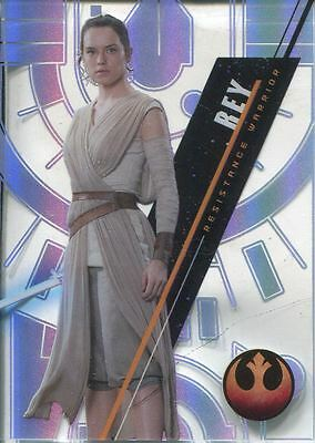 Star Wars 2016 High Tek Pattern 4 Form 2 Base Card SW-75 Rey