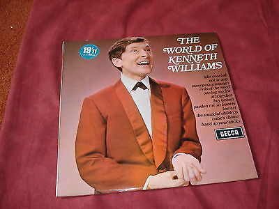 KENNETH WILLIAMS The world of LP SPOKEN WORD comedy