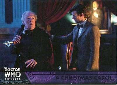 Doctor Who Timeless Purple Parallel [##/50] Base Card #76 A Christmas Carol