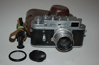 Zorki-4 Vintage 1957 Soviet Rangefinder Camera With Jupiter-8 Lens. No. 5761704