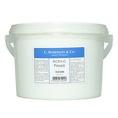 Roberson : Acrylic Primer : 2.5 Litre (By Road Parcel Only)