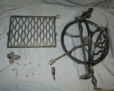 Antique Singer Open Side Sewing Machine Treadle Flywheel Pedal Assembly 23 24