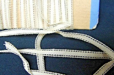 14 + YARDS ANTIQUE EARLY 1900s NARROW LACE TRIM DOLL CLOTHES