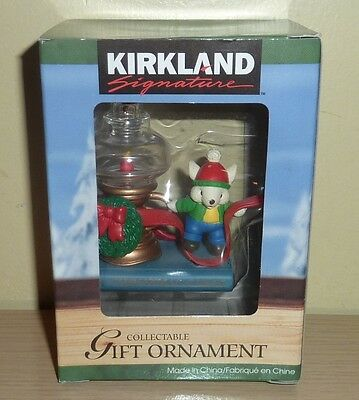 Kirkland Signature Collectible Ornament ~ Mouse with Oil Lamp