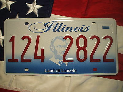 ILLINOIS license licence plate plates USA NUMBER PLATE