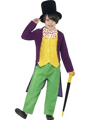Roald Dahl Willy Wonka Chocolate Factory Costume Fancy Dress Book Day Character