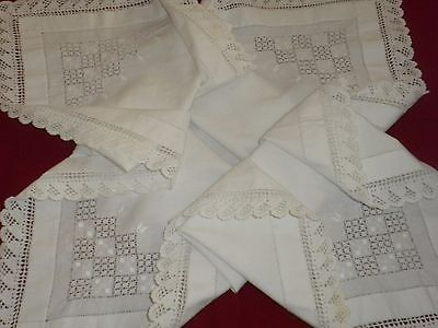 VİNTAGE WHITE HANDMADE  CROCHET LACE TABLECLOTHS**code:135