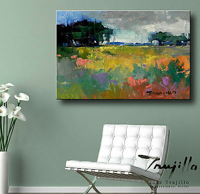 "NEW Hand-Signed JOSE TRUJILLO Fine Art Giclee Canvas PRINT IMPRESSIONISM 24""x36"""