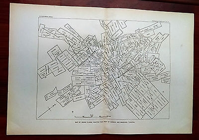 Early 1900s USGS Map Mining Claims Adapted  Map of Booker and Bradford Tonopah