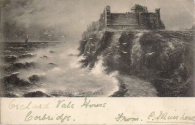 Splendid Old Postcard - Tantallon Castle - North Berwick - East Lothian 1902