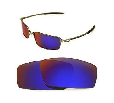 384e935d16e New Polarized Custom Light +Red Lens For Oakley Square Wire Sunglasses