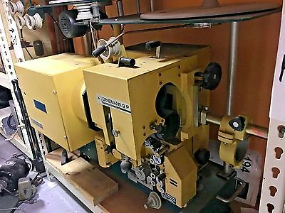 ERNEMANN 16 & 35mm Cinema  Projector full kit Model 12P Semi Portable Very Rare!