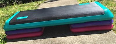 "The Step Health Club Size 43"" Aerobic Stepper with 4 Risers"