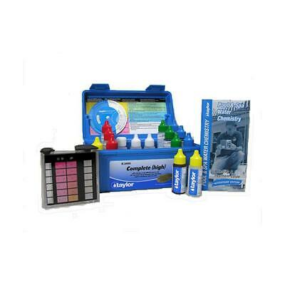 K-2005 Taylor Technologies Complete High Range Pool and Spa Water Test Kit