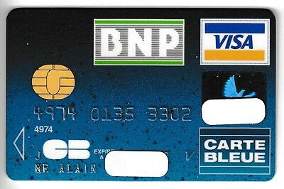 Carte / Card  Banque Bank Credit .. Ancienne Old Cb Schlumberger Perimee Puce