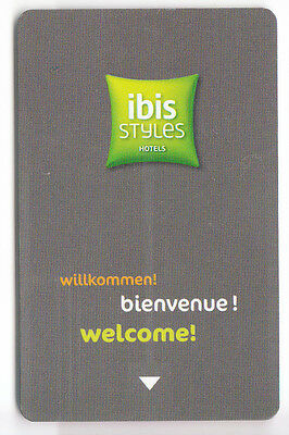 Carte / Card  Hotel Cle  Key .. France Accor Ibis Styles New  Magnetique +Encart