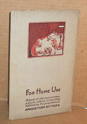 1935 Angostura Bitters For Home Use Booklet SC