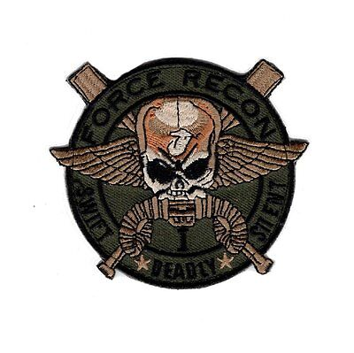 Marine Force Recon USMC Military Marine Swift Deadly-Silent Hook Patch (P435)