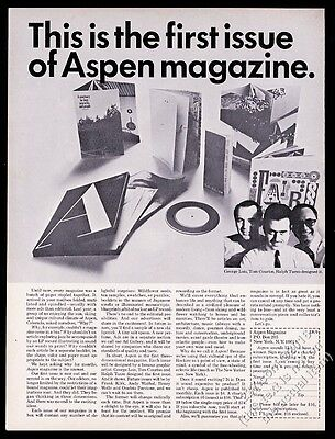 1966 Aspen Magazine first issue contents and creators photo vintage print ad