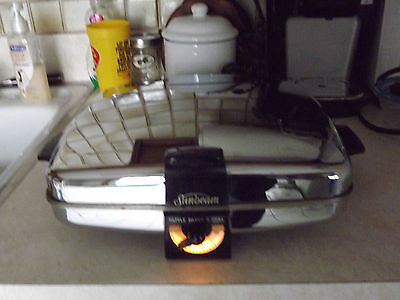 Vintage Sunbeam Model CG Waffle Iron And Grill w/Instructions