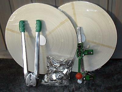 Complete Set Strapping Tool Kit Set And Strapping 760' Strap W 400 Crimps