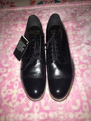 Stacy-Adams Men's Black Leather Oxfords/ New(wt) Size 10.5D
