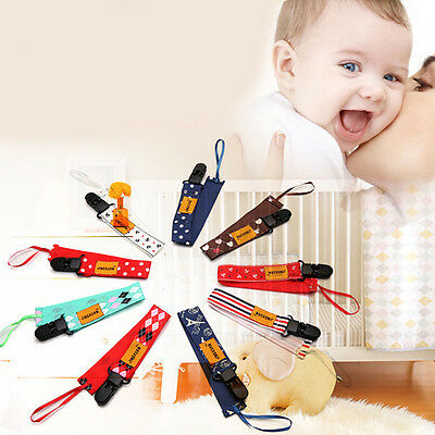 Baby Toddler Dummy Pacifier Soother Nipple Leash Strap Chain Clip Holder Random