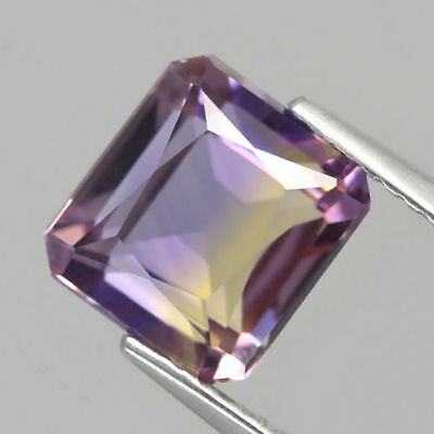3.26 ct. Unbehandelter 8.7 x 8 mm Bolivien Bi- Color Oktagon Ametrin