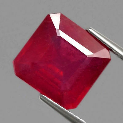 5.95 ct. Top Roter 10 x 9.8 mm Mosambik Oktagon Rubin