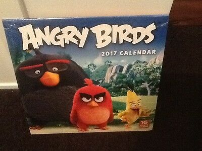 Angry Birds  2017 Calendar  16 Month Brand New In Wrap