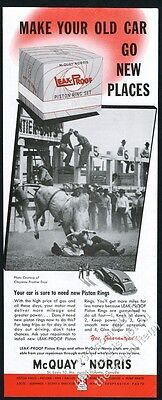 1949 brahma bull and cowboy Cheyenne Frontier Days rodeo photo McQuay-Norris ad