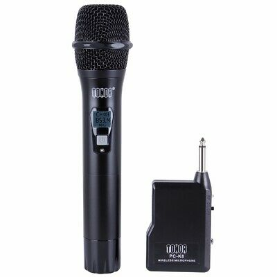 TONOR Professional Wireless Microphone Mic System Handheld VHF Mic W/ receiver