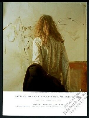 2010 Patti Smith painting Steven Sebring photo NYC gallery show vintage print ad