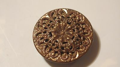 ANTIQUE BEAUTIFUL BUTTON , made in CZECHOSLOVAKIA , PRE WAR , NICE , MARKED ***
