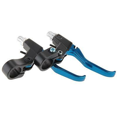 Pair Mountain Bicycle Bike Cycling BMX MTB Brake Lever Aluminium Alloy Blue