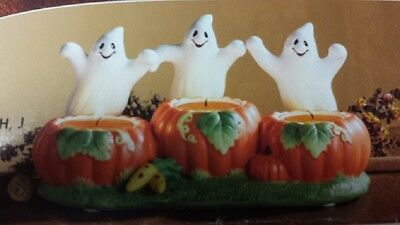 PartyLite Ghost Trio Tealight Candle Holder-P7262-Brand New In Box-Never Opened