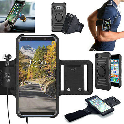 Samsung Galaxy S8 iPhone 8 7 Plus Armband Case Gym Sports Exercise Running Cover