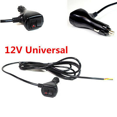 12V 10 ft 3 Wires Cigar Lighter Socket Plug Connector With On Off Toggle Switch