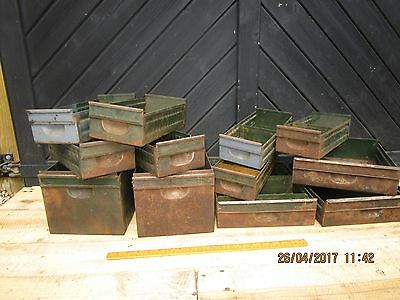 Vintage /Retro 1930s Industrial Metal drawers / Filing Cabinets /Tool cabinet (A