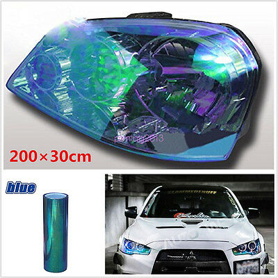 200x30cm Colorful Blue Chameleon Tint Headlight Tail Fog Light Vinyl Film Sheet