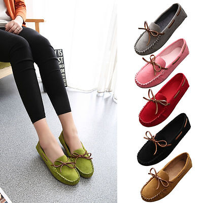 Fashion Women's Ladies Causal Slip On Round Toe Boat Flat Sandal Shoes Loafer
