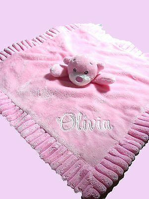 Personalised Baby Cuddle Blanket  Security Blanket Gift  Comforter Any Name
