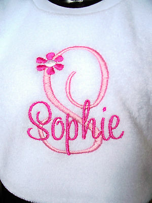 Personalised Baby Bib Embroidered GIFT New Baby Twins/ Christening Name Day