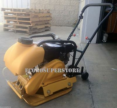 Compact 6.5Hp Vibration Plate Compactor Walk Behind Tamper Rammer W/water Tank