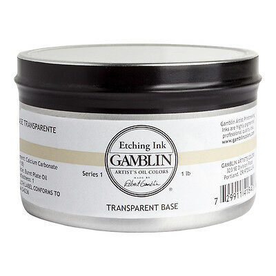 Gamblin : Etching Ink : 454g : Transparent Base